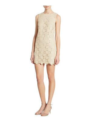 Alice + Olivia clyde metallic lace shift dress