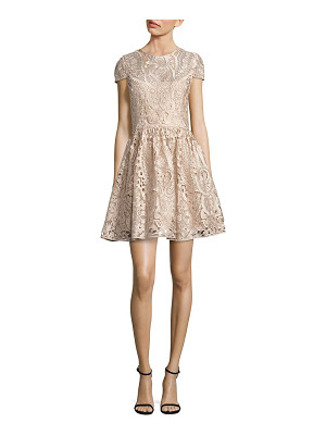 Alice + Olivia gracia lace fit-&-flare dress