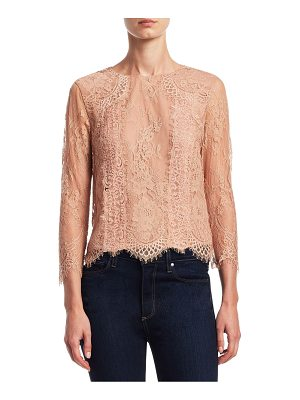 ALICE + OLIVIA Hildie Laced Top