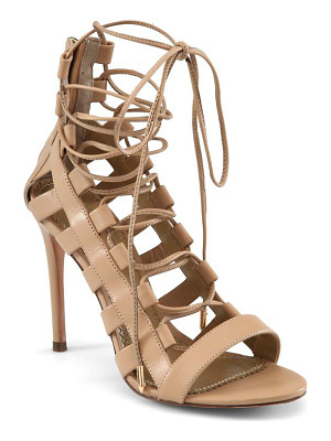 AQUAZZURA Amazon Leather Lace-Up Sandals
