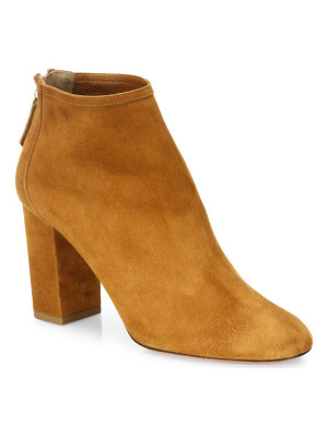 AQUAZZURA Downtown Suede Block-Heel Booties