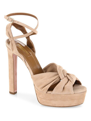 Aquazzura movie star suede platform sandals