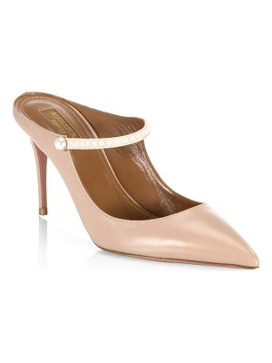 AQUAZZURA Nolita Leather Stiletto Mules
