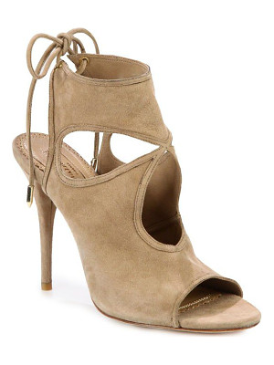 Aquazzura sexy thing cutout suede tie-back sandals