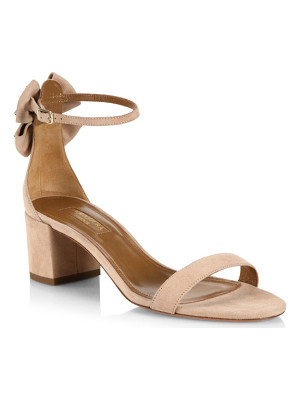 Aquazzura siena bow suede ankle-strap sandals