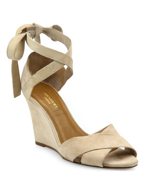 Aquazzura tarzan crisscross suede wedge sandals