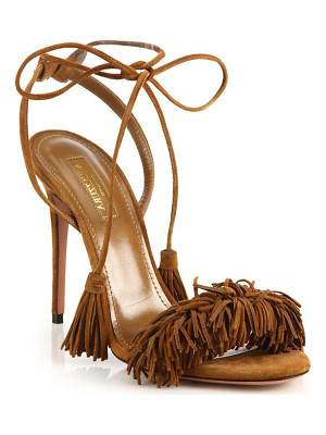 AQUAZZURA Wild Thing Fringe Suede Sandals