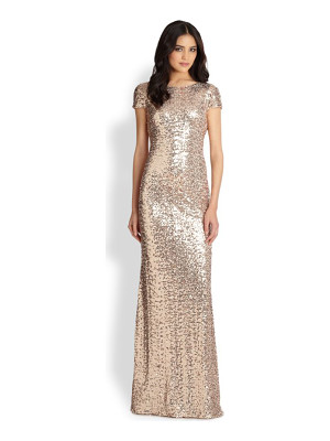 Badgley Mischka sequin gown