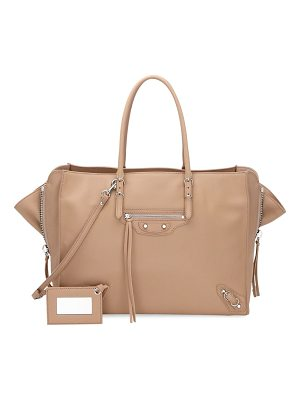 BALENCIAGA Papier Zip-Around B4 Leather Handbag