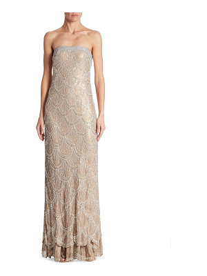 BASIX BLACK LABEL Boustieau Beaded Silk Gown