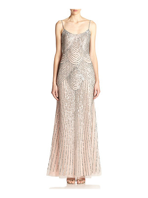 Basix Black Label sequined slip gown