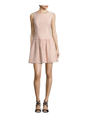 BCBGMAXAZRIA textured drop-waist dress