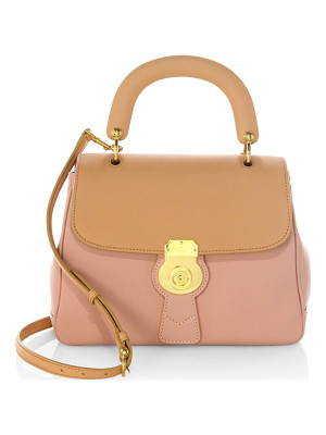 BURBERRY Bi-Colour Leather Top Handle Bag
