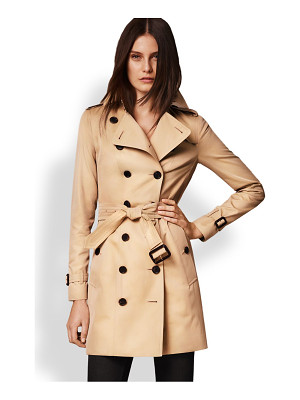 BURBERRY LONDON Sandringham Mid-Length Heritage Trench Coat