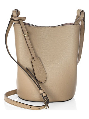 BURBERRY Lorne Leather Hobo Bag