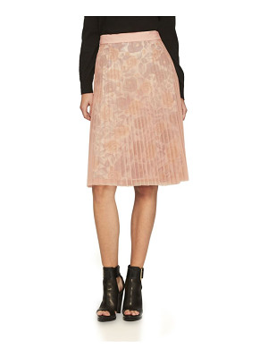 Burberry technical-pleated tulle a-line skirt