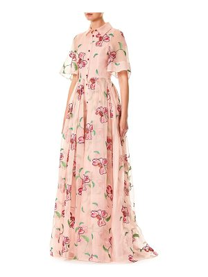 CAROLINA HERRERA Floral Silk Gown