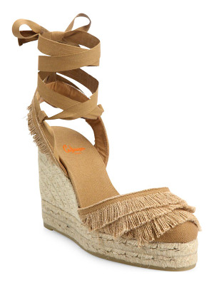 Castaner cala feathered canvas espadrille wedge sandals