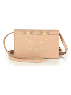 CHARLOTTE OLYMPIA Feline Leather Crossbody Bag