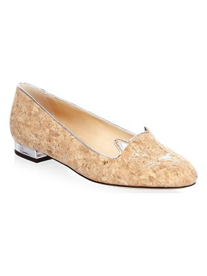 CHARLOTTE OLYMPIA Kitty Cork Flats