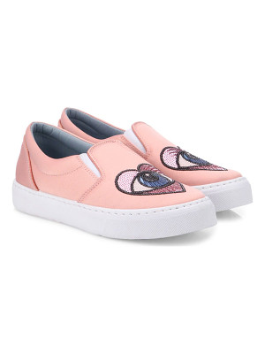 Chiara Ferragni satin heart-eye skate sneakers