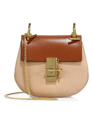 CHLOE Drew Mini Colorblock Leather Saddle Crossbody Bag