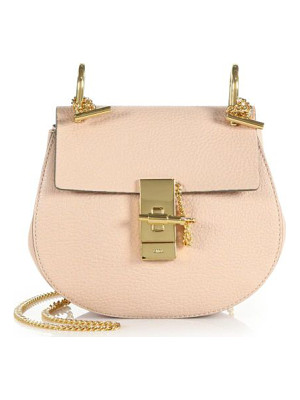 Chloe drew mini leather saddle crossbody bag