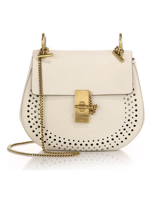 CHLOE Drew Small Perforated Leather Saddle Crossbody Bag