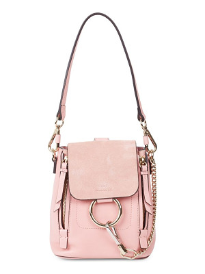 CHLOE Faye Leather & Suede Mini Backpack