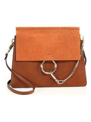 CHLOE Faye Medium Suede & Leather Shoulder Bag