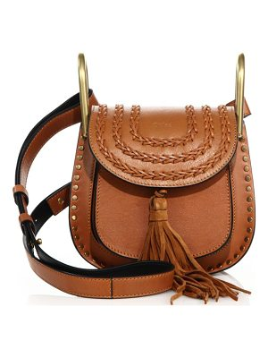 CHLOE Hudson Mini Tasseled Leather Crossbody Bag