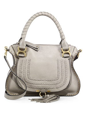 Chloe marcie large leather satchel