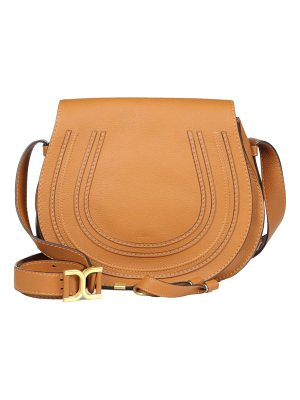 Chloe marcie medium round leather crossbody bag