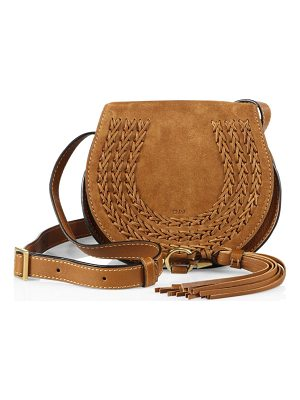 Chloe marcie small suede saddle crossbody bag