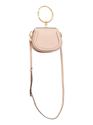 CHLOE Small Nile Leather & Suede Saddle Bag