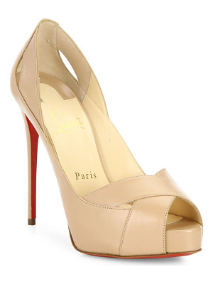 Christian Louboutin academa 120 leather peep toe pumps