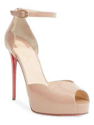 CHRISTIAN LOUBOUTIN Aketata 120 Patent Leather Peep Toe Sandals