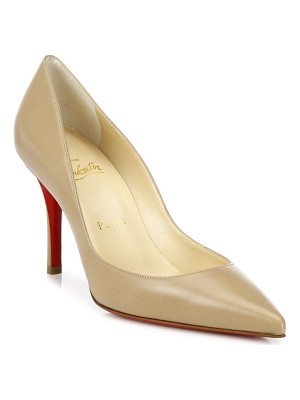 CHRISTIAN LOUBOUTIN Apostrophy 85 Leather Point Toe Pumps