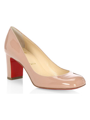 CHRISTIAN LOUBOUTIN Cadrilla 70 Patent Leather Block Heel Pumps