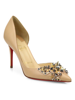 CHRISTIAN LOUBOUTIN Farfa Spikes 85 Leather D'Orsay Pumps