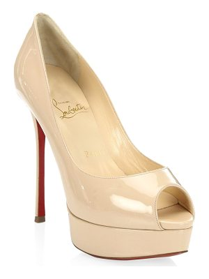 Christian Louboutin fetish 130 patent leather peep toe pumps