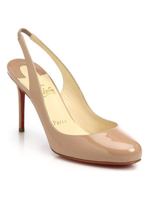 CHRISTIAN LOUBOUTIN Fifi Patent Leather Slingbacks