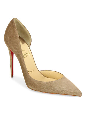CHRISTIAN LOUBOUTIN Iriza Half D'Orsay Suede Pumps