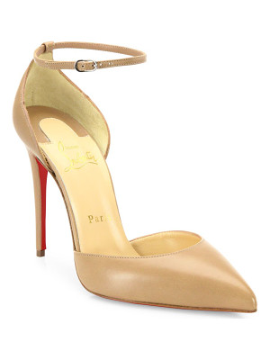 Christian Louboutin leather ankle-strap pumps