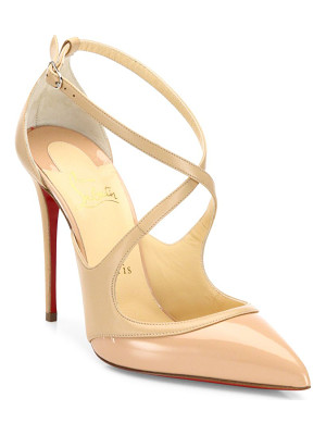 Christian Louboutin leather point-toe pumps