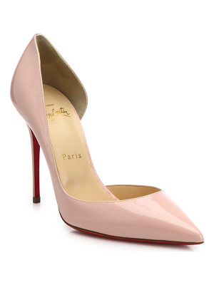 CHRISTIAN LOUBOUTIN Iriza Half D'Orsay Patent Leather Pumps