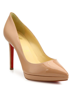 Christian Louboutin pigalle plato patent leather point toe platform pumps