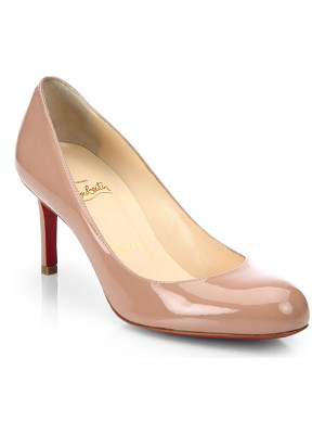 CHRISTIAN LOUBOUTIN Simple 70 Patent Leather Pumps