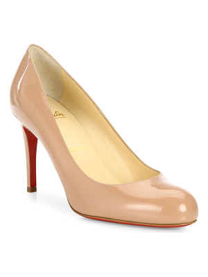 Christian Louboutin simple 85 patent leather pumps