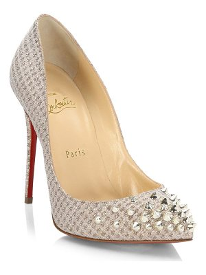 CHRISTIAN LOUBOUTIN Spikyshell 100 Spiked Lurex Pumps
